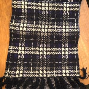 Brooks Brothers Navy, Blue, and White Scarf